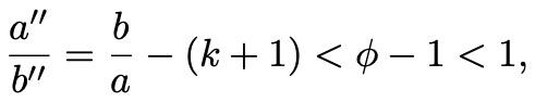 Frac a b = f